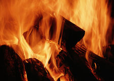 Evening fire Stock Photo