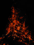 Evening fire. Royalty Free Stock Images
