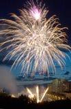 evening fireworks Στοκ Φωτογραφίες