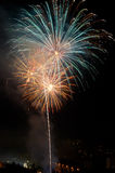 Evening fireworks Stock Photography
