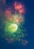 Evening fireworks in honor of a holiday the Victory Day Royalty Free Stock Photography