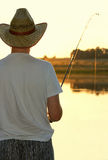 Evening fishing Royalty Free Stock Photo