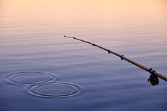 Evening fishing Stock Photos