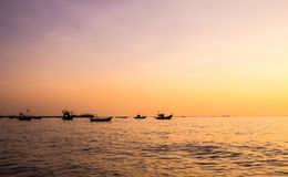 Evening fishing boats Stock Photo
