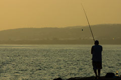 Evening fishing Stock Image
