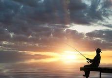 Evening fishing Royalty Free Stock Image