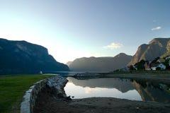 Evening Fjord Royalty Free Stock Photos