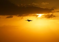 Evening flight Royalty Free Stock Images