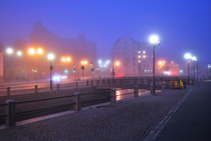 Evening fog in Helsinki Stock Images