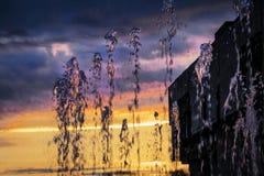 Evening Fountain Royalty Free Stock Photos