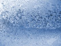 Evening frost pattern. Texture on the glass Stock Photography