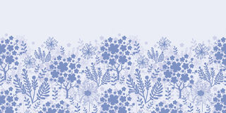 Evening garden horizontal seamless pattern Stock Photo