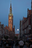 Evening in Gdansk, Poland Stock Image