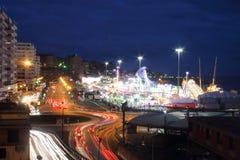 Evening at the genoa fair Royalty Free Stock Photos