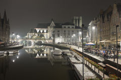 Evening in Ghent Royalty Free Stock Photography
