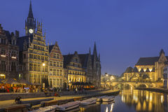Evening in Ghent Stock Images