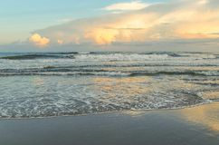 Evening Glow at Atlantic Beach, North Carolina stock photo