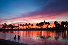 Evening glow in Hawaii Stock Photography