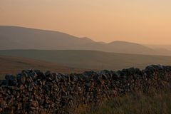 Evening Glow. Over Yorkshire Dales Stock Photo