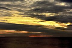 The evening glow of Puerto Madryn Stock Photography