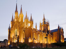 Evening gothic temple Stock Image