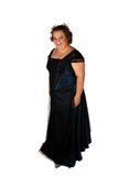 Evening gown. Young scholar dressed for final going away party stock images