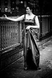 Evening Gown in the City Stock Photo