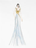Evening gown concept Stock Photography