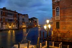 Evening on the Grand Canal in HDR Royalty Free Stock Photography