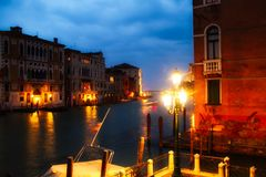 Evening on the Grand Canal Royalty Free Stock Photos