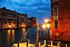 Evening on the Grand Canal Stock Photos