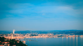 Evening in the gulf of Trieste Stock Image