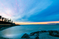 Evening in the gulf of Trieste Stock Photos