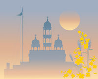 Evening gurdwara Royalty Free Stock Photography