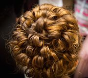 Evening hairstyle Royalty Free Stock Images