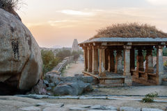 Evening in Hampi, time before sunset Royalty Free Stock Photography