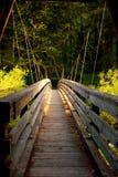 Evening at the Hanging Bridge stock photos