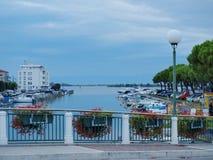 Evening in the harbor, Grado. Italy Stock Photos