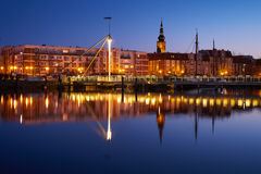 Evening harbour. Greifswald Royalty Free Stock Photo