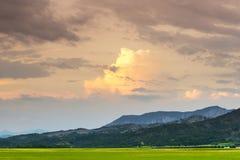 Evening in Haute Provence Stock Photo