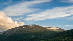 Evening hills`s landscape in Norway Stock Image