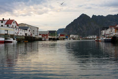 Evening Honningsvaer Stock Photos