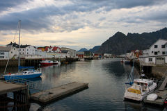 Evening Honningsvaer Stock Images