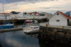 Evening Honningsvaer Stock Image