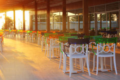 Evening at hotel restaurant Royalty Free Stock Photography