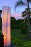 Evening illumination of park Royalty Free Stock Photography