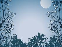 Evening, illustration, backgro. Background, cartoon, moon, illustration, evening, night Royalty Free Stock Photos