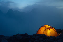 Evening In The Caucasus Mountains Stock Images