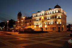 Evening Independence Square, Minsk royalty free stock photography