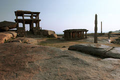 Evening in the indian town Hampi Royalty Free Stock Photography